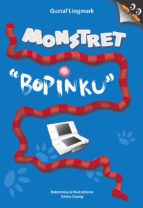 """Bild på framsidan till boken """"Monstret Bopinku"""""""